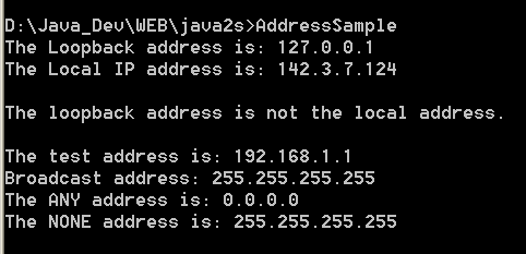 IP Address parse, lookup 