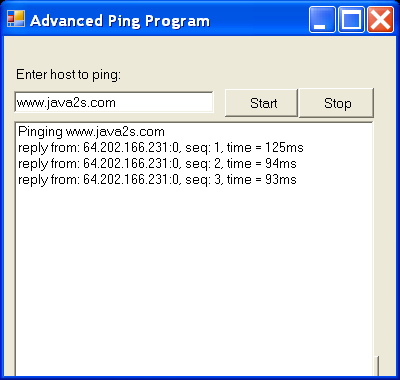 Advanced Ping Program
