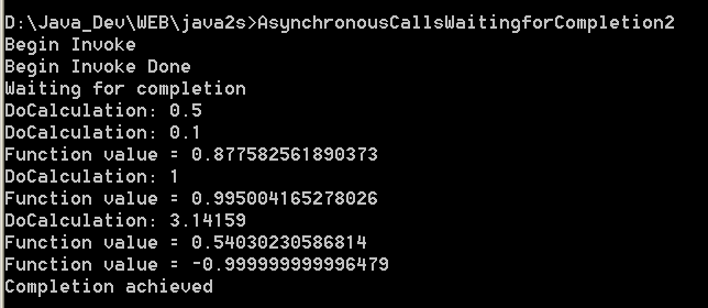 Asynchronous Calls:Waiting for Completion 2