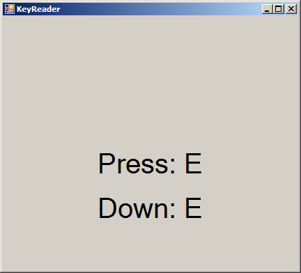 Bind key action to a form window