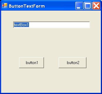 TextBox and button on form