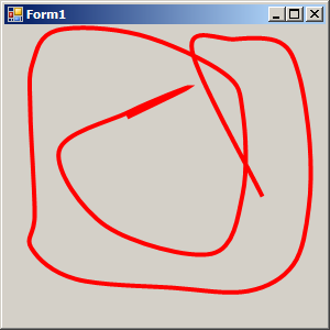 Click on the form to draw curve