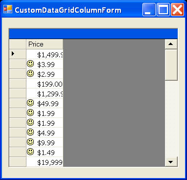DataGrid Binding: Custom DataGrid Column Form
