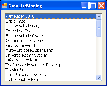 Data ListBox Binding 3