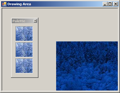 Drag and drop image to another window