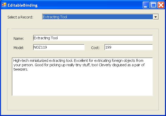 Editable Binding