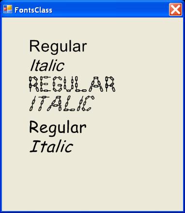 Fonts Class
