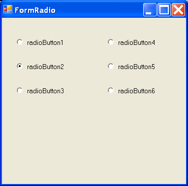 RadioButton on a form