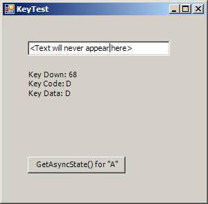 Get Async Key State