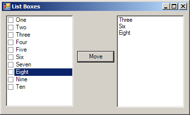 Get selected checkbox list items