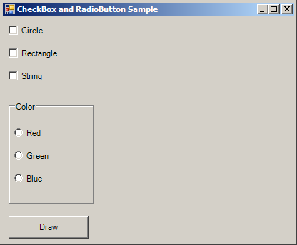 Get selected radio button