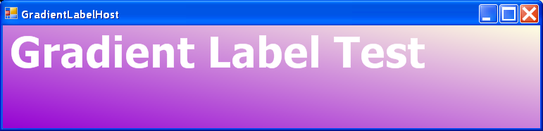 Gradient Label Host