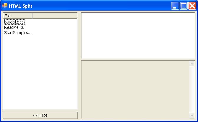 HTML Split Window