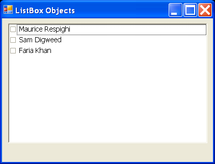 ListBox Objects