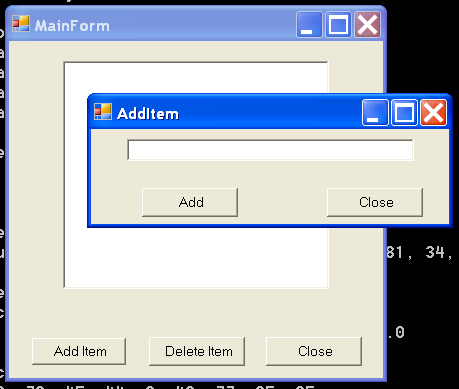 Form with list, button