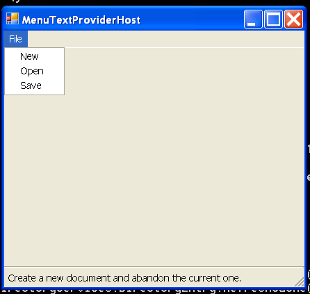 Menu Text Provider Host