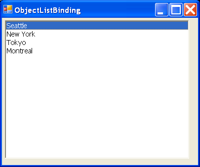 Object List Binding