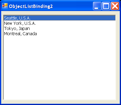 Object ListBox Data Binding 2