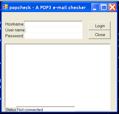 A POP3 e-mail checker