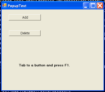 Popup Text