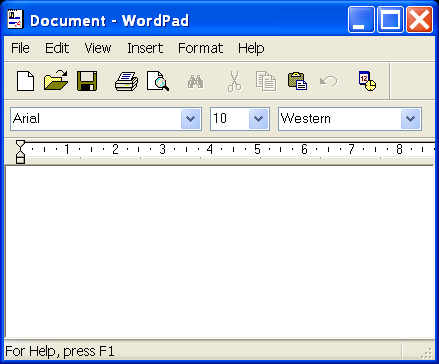 Starting a new process: open wordpad