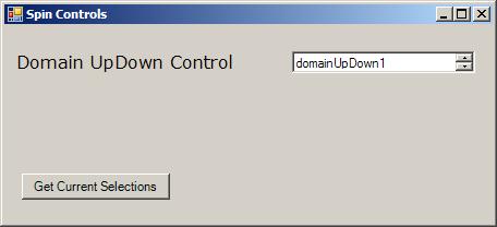 String based DomainUpDown (Spinner)
