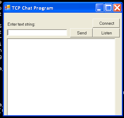 Tcp Chat : Chat « Network « C# / C Sharp