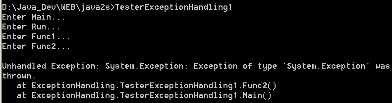 Exception throws