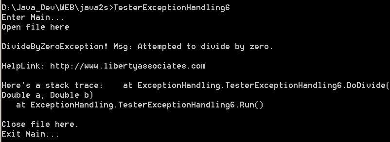 Exception handle with finally