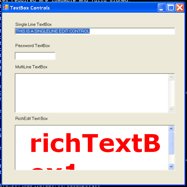 TextBox Demo