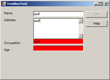 TextBox value validation Demo
