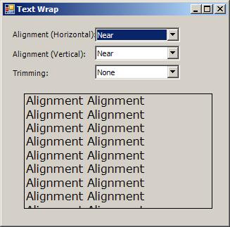 Text wrap: vertical, horizontal and trim