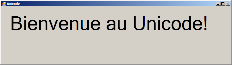 Unicode encoding: French