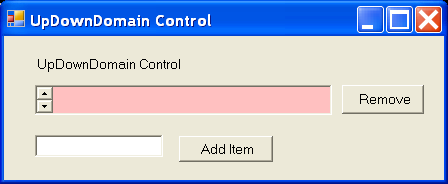 UpDown Control