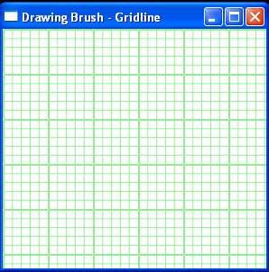 Applies a DrawingBrush and DrawingGroup to draw gridlines as a background of a Grid control.