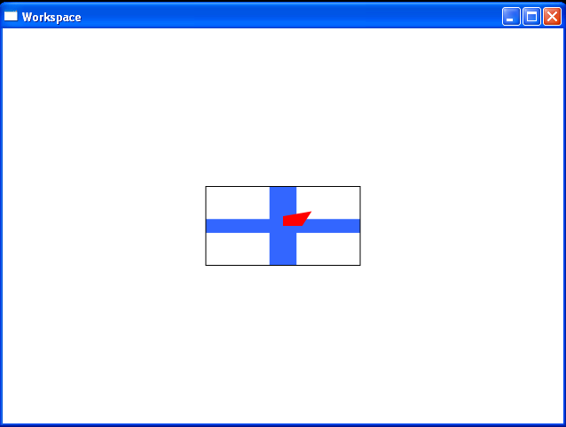 Applies a RotateTransform to the DrawingBrush's RelativeTransform property
