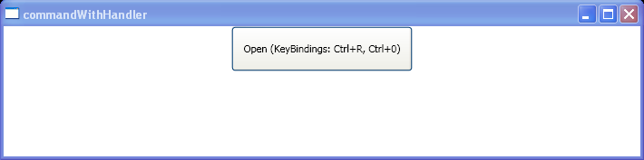 Command Handler Key Binding