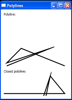 Create a simple polyline, a closed polyline. And a Sine curve in code.