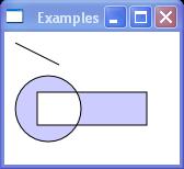 Creates a composite shape from three geometries