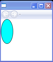 Fill an Ellipse with Cyan and Draw the border with Black color