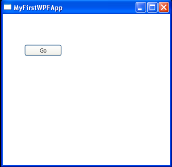My First WPF App with code behind