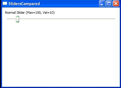 Normal Slider (Max=100, Val=10)