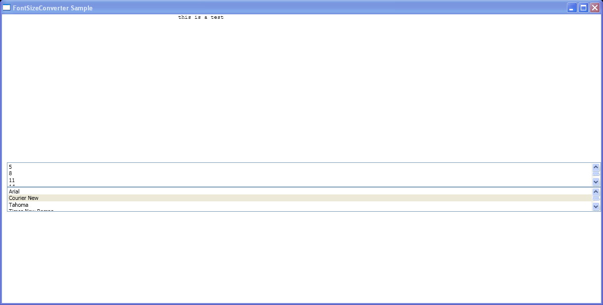Programmatically change the FontFamily property of a TextBlock element.