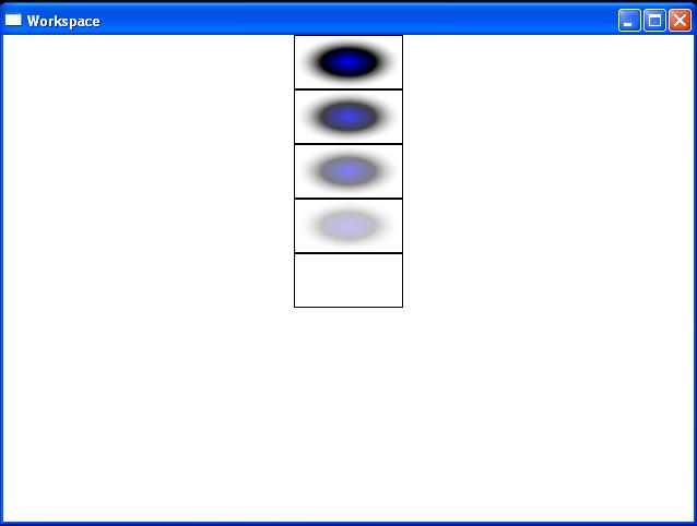 RadialGradientBrush Opacity from 1 to 0