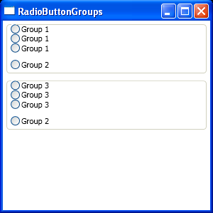 Radio Button Groups