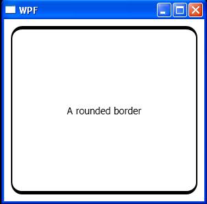 Set border corner radius