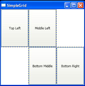 Set Column and Row index when adding Controls to a Grid