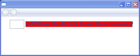 Setting AccessText properties.