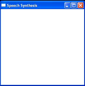 SpeechSynthesizer demo