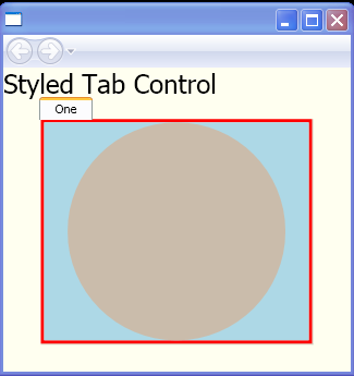 Style a TabControl using templates for the TabControl and TabItem elements.